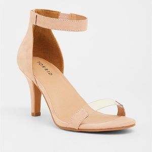 Torrid | Soft Pink Faux Leather & Lucite Sandal
